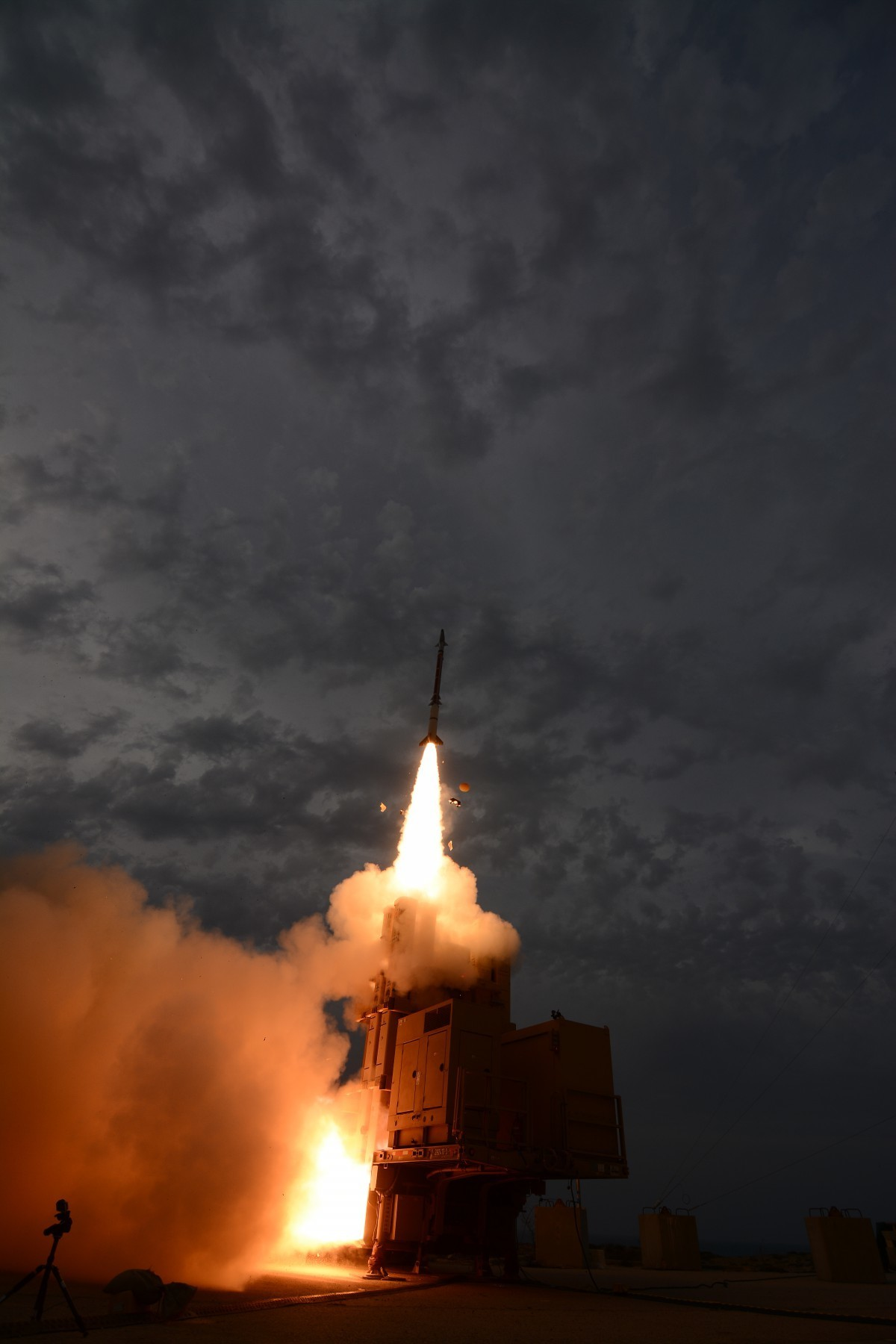 The Israel Missile Defense Organization (IMDO) of the Directorate of Defense Research and Development (DDR&D) and the U.S. Missile Defense Agency (MDA) successfully completed a test series of the David's Sling Weapons System, a missile defense system that is a central part of Israel's multi-layer anti-missile array. This test series, designated David's Sling Test-5 (DST-5) was the fifth series of tests of the David's Sling Weapon System. This test series was conducted at Yanat Sea Range, operated out of Palmachim Air Base, Israel.