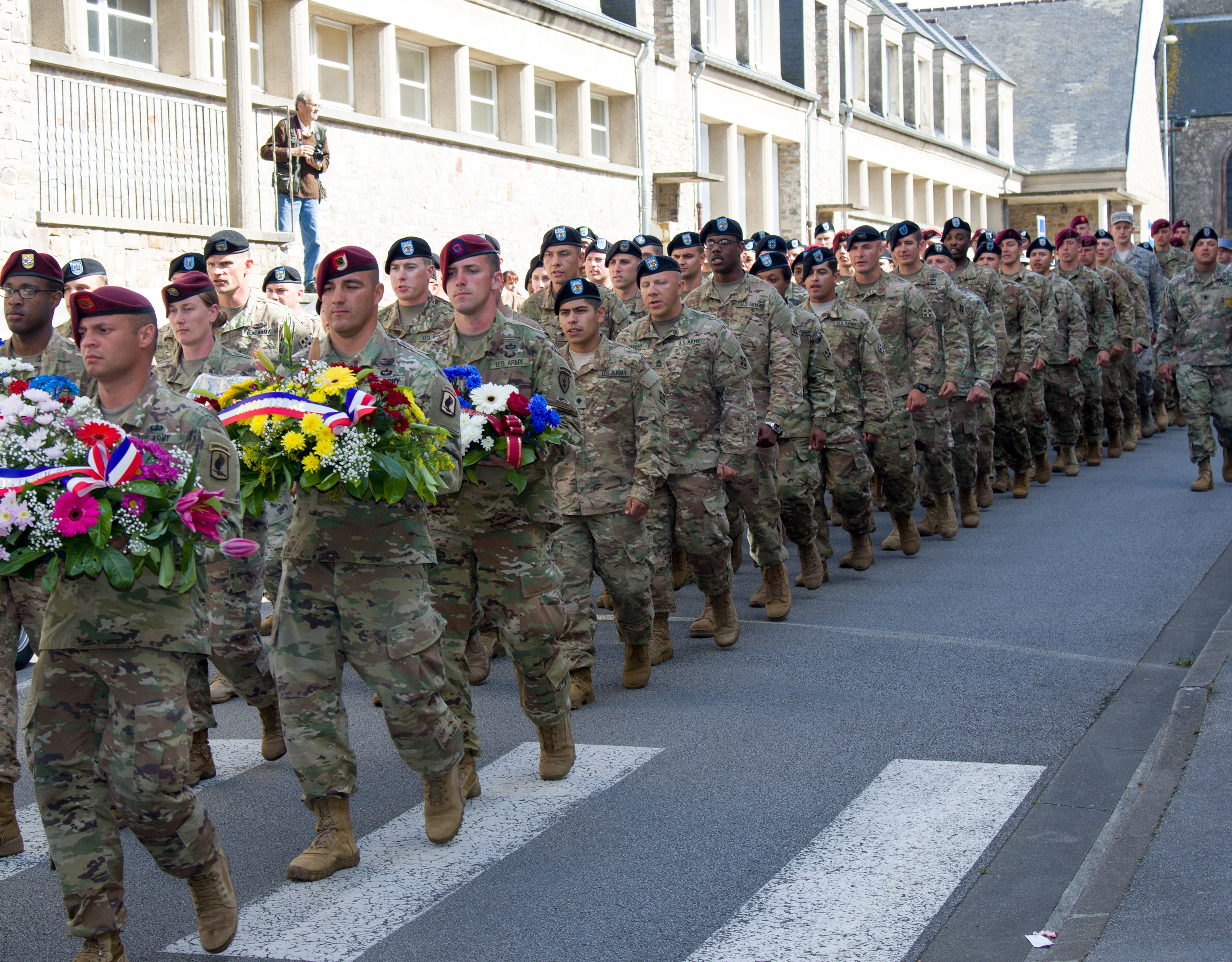Berets and wreaths.