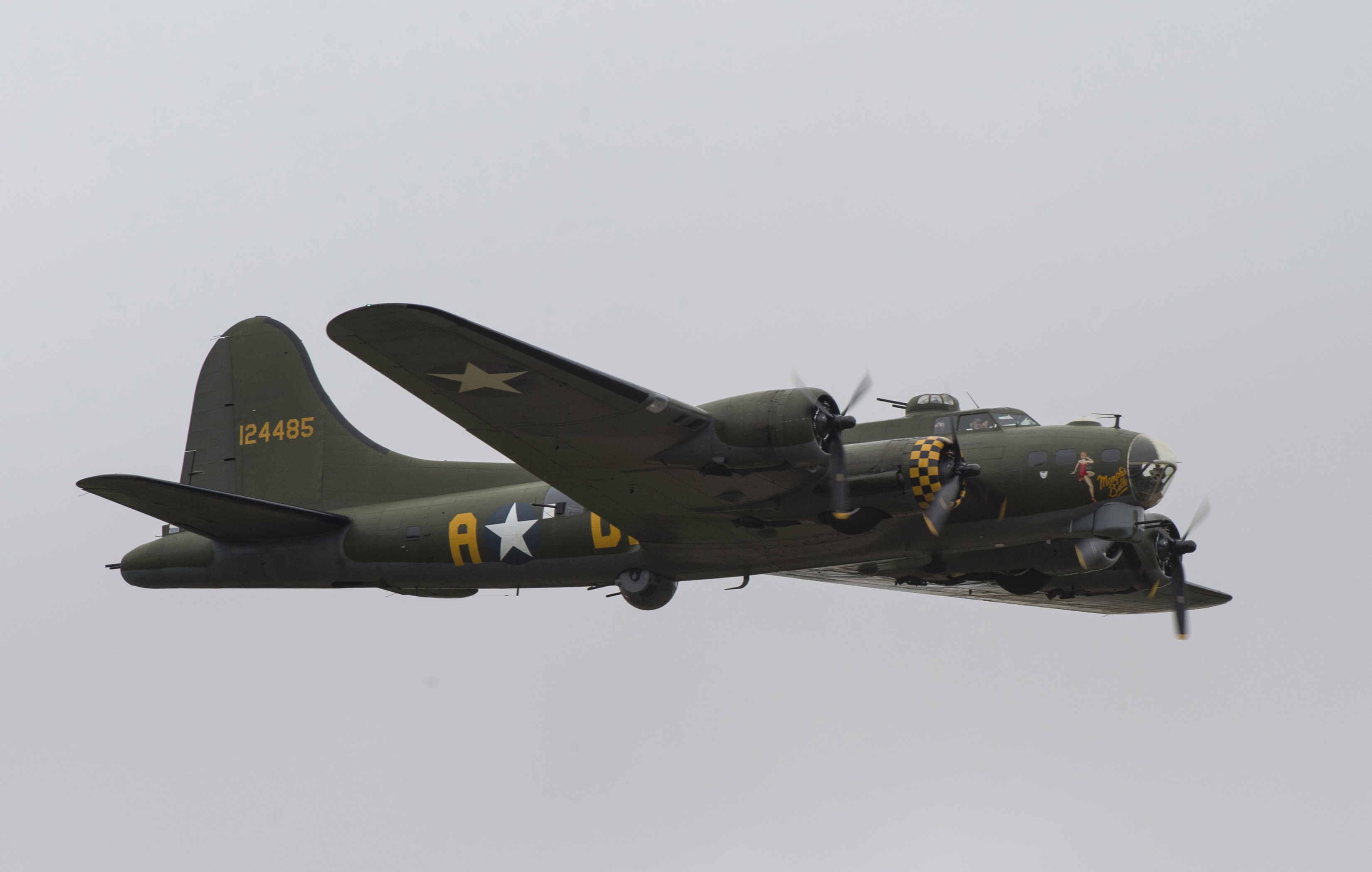 FAIRFORD, United Kingdom – A B-17 aircraft flies past spectators during the 2017 Royal International Air Tattoo (RIAT) located at RAF Fairford, United Kingdom, on July 15, 2017. This year commemorates the U.S. Air Force's 70th Anniversary which was highlighted during RIAT by displaying its lineage and advancements in military aircraft. (U.S. Air Force Photo by Tech. Sgt. Brian Kimball)