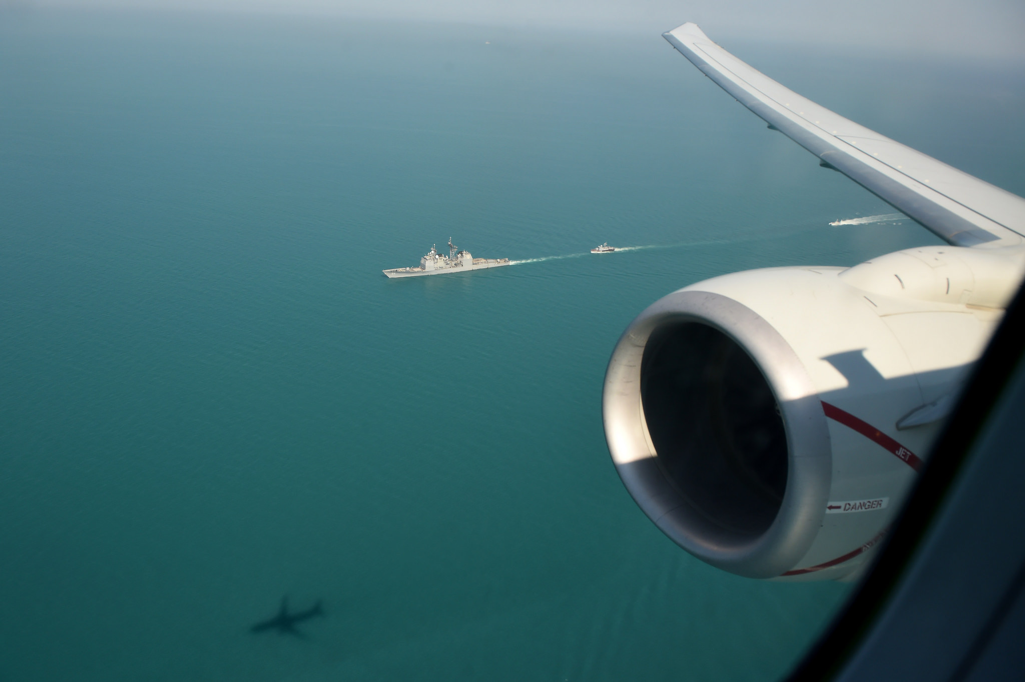 A P-8A Poseidon, assigned to Patrol Squadron (VP) 16, participates in a photoex flight during exercise Sea Breeze 2017 in Odessa, Ukraine, July 21. Sea Breeze is a U.S. and Ukraine co-hosted multinational maritime exercise held in the Black Sea and is designed to enhance interoperability of participating nations and strengthen maritime security within the region.