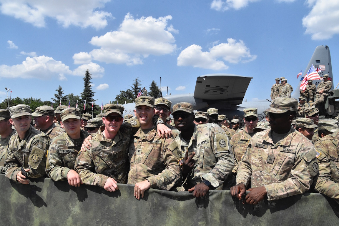The Vice President of the United States, Mike Pence, visited multinational service members and delivered a speech on the partnership between the U.S. and Georgia Aug. 1, 2017 in Tbilisi, Georgia. The servicemembers in attendance are currently training in Georgia for Noble Partner 2017, which is a U.S. Army Europe-led exercise hosted at Vaziani and Camp Norio training areas in Georgia, taking place from July 30 to Aug. 12, 2017.