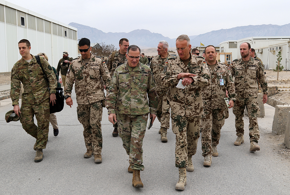 U.S. Army Gen. Curtis M. Scaparrotti, Supreme Allied Commander Europe (SACEUR) visits leaders from NATO's Resolute Support Mission and Afghanistan's security forces at Train, Advise, Assist Command - North on Feb. 23, 2018.