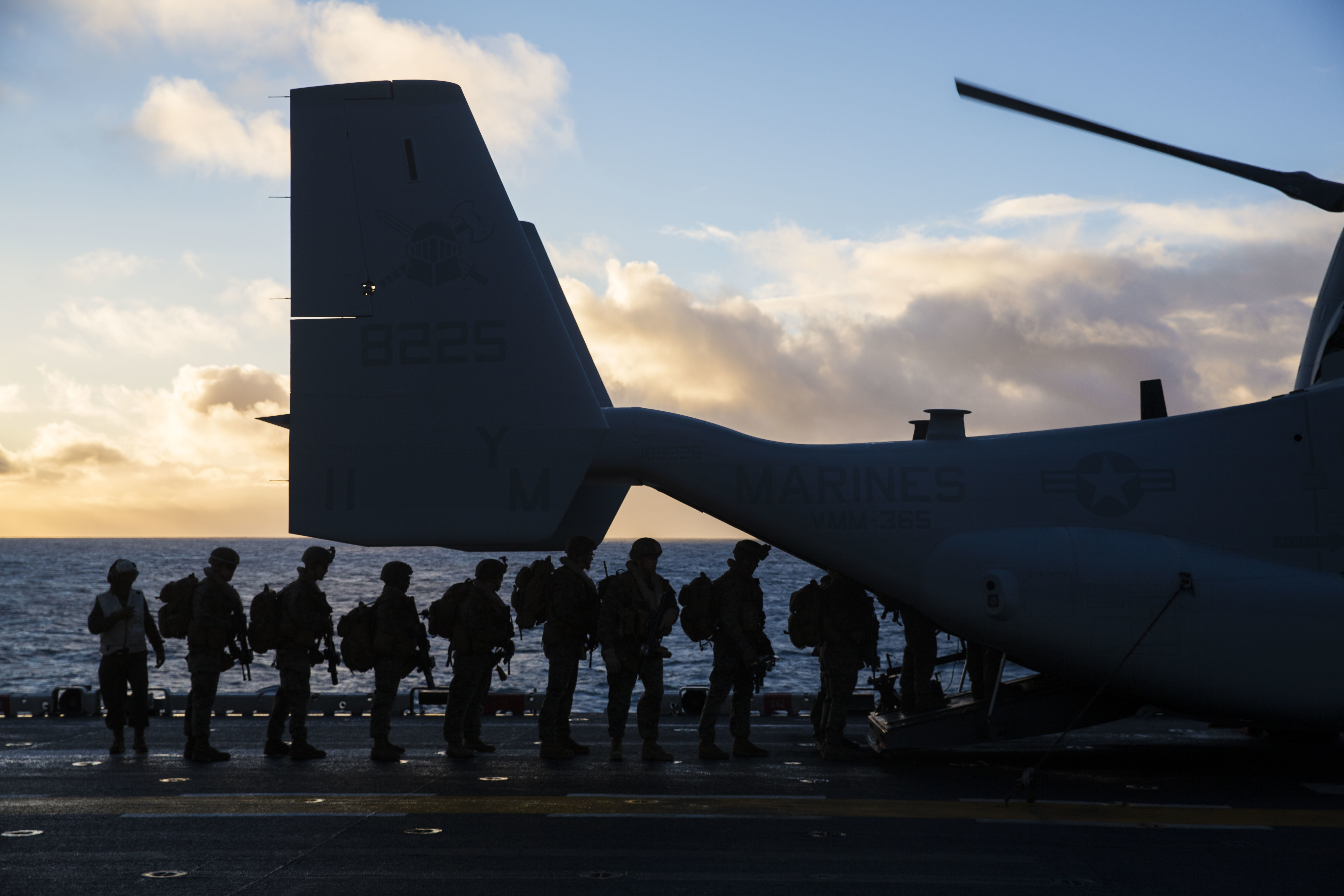 Marines with 2nd Battalion, 2nd Marine Regiment, load onto a CH-53E Sea Stallion aboard USS Iwo Jima (LHD 7) while conducting an air assault in Icelandic terrain Oct. 17. Iceland's unique terrain and climate allows for Marines to be better prepared and rapidly deploy in support of NATO Allies and partners. (U.S. Marine Corps photo by Lance Cpl. Margaret Gale)