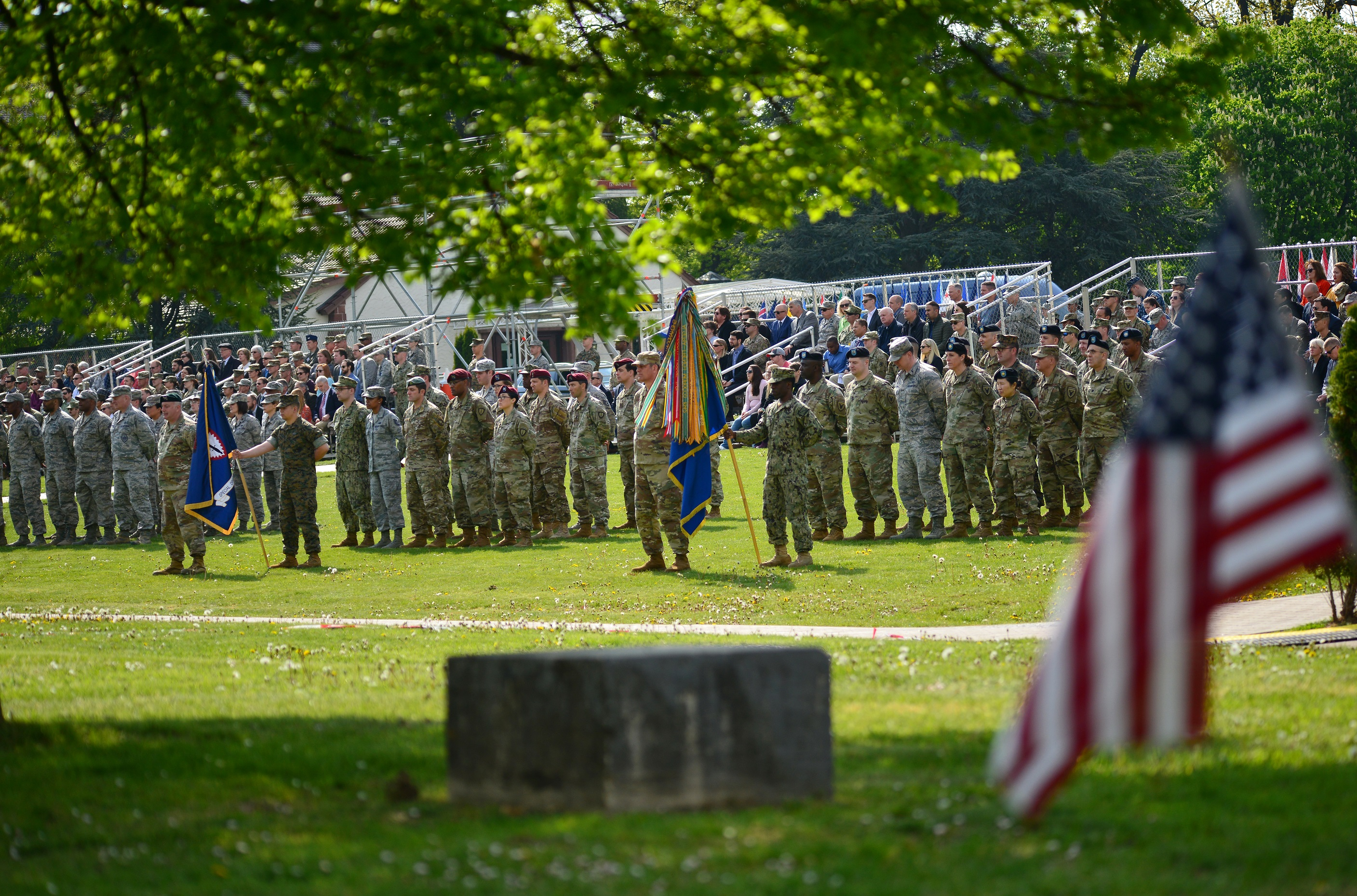 U.S. European Command (USEUCOM) held a change of command ceremony today at Patch Barracks in Stuttgart, Germany, where U.S. Air Force Gen. Tod D. Wolters assumed command from U.S. Army Gen. Curtis M. Scaparrotti.